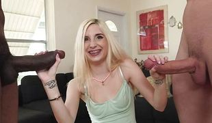 Magical blonde Piper Perri has three cock to play with