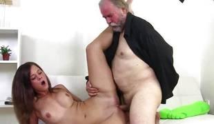 Teen screwed by older men
