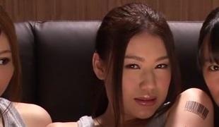Incredible Japanese whores Hana Haruna, Honami Uehara in Fabulous JAV censored Fingering, Group-sex video