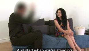 Amalia Patricia in Slutty Romanian babe sucks and fucks in casting - FakeAgent