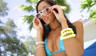 He films this Latina hottie POV style greatest extent shacking up will not hear of