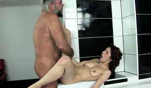 Brigitta has him branch of knowledge her snatch deep and welcomes his cum in her frowardness