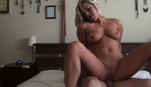 Magnificent pain haired fair-haired babe, Embry Prada, acquires spooned and forked