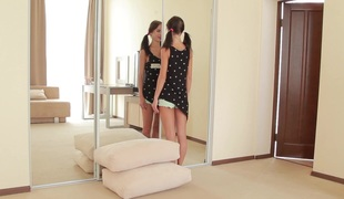 flexible real legal age teenager doll gets stretched