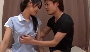 Fabulous Japanese model Suzu Wakana in Amazing college, pants JAV video