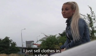 PublicAgent: Sexy blonde legal age teenager fucking in my car