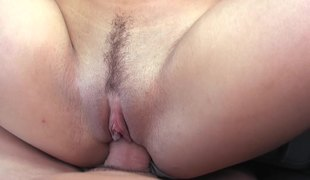 A honey with teat piercings gets fucked in a car really well