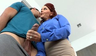 Two redhead women shared a hard schlong and fucked primarily turns