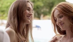 Three hot blondie chick shared one biggest weenie to fullfil fantasy