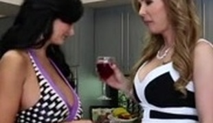 Two lesbian MILFs and a sexy sweetheart enjoy threesome sex
