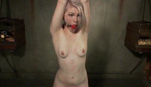 Ella Nova in Youthful Blonde In Extreme Bondage - SadisticRope