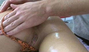 Hunk is restorative honey's wild needs close to his erotic rubbing