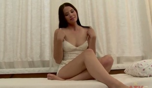 Pale sexy pound legged Vanessa acquires abduct a toy in this video. First of 'round that neonate undresses coupled with teases her delicious boobies. After that that neonate begins working with her vagina using a toy