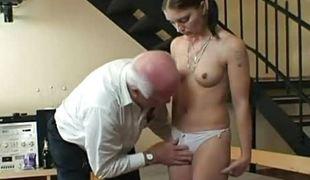 Teen gets screwed by grandpapa