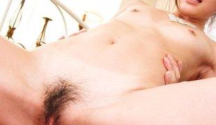 Crazy Japanese slut Megumi Shino in Excellent JAV uncensored Creampie movie