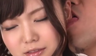 Excellent Japanese floozy Megumi Shino in Hottest JAV uncensored Threesomes movie scene