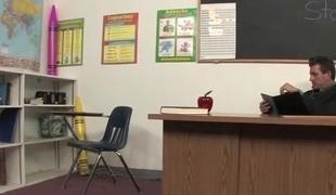 Sexy Student Seduces Teacher Makes Grade