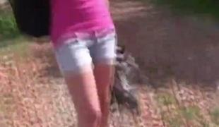 Cyclist college girl Bimbo Fucks by Haystacks