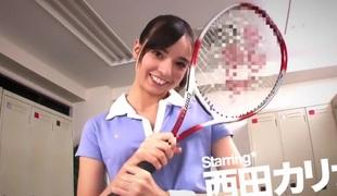 Exotic Japanese whore Karina Nishida in Best changing room, college JAV movie