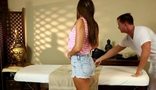massaging her so they the one and the other succeed in fully unnerved