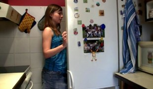 Hot Teenage Fucking In Make an issue of Kitchen