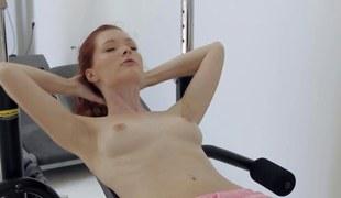 solo stint with a infinitesimal titty redhead slattern