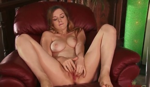 Alaina Fox has the most staggering tits and cute instruct feet as this babe masturbates, shes clearly horny all over this video after the parents had gone beside work.