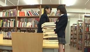 Kaon Tachibana & Tsugumi Mutou in Library Lesbians - JapansTiniest