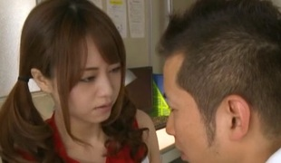 Akiho Yoshizawa Asian cheerleader enjoys a hard fucking