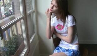 Cute latvian girl beata u killing boredom