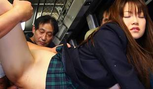 Yayoi Yoshino in Yayoi Yoshino gives in and lets the hijackers fill her up - AviDolz