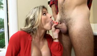 Teen added to stepmom shared warm cumload blasted on their faces