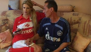 Blonde Legal age teenager Stepdaughter Yawning chasm Screwed By Her Parent