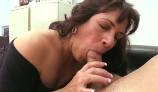 Curly-haired Kiana is three hot and experienced milf that works as a secretary far the college! Every one knows that that babe loves young dicks! This guy decided here feel her potential on his own cock!